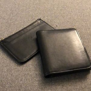 Coach Black Leather Wallet and Card Holder